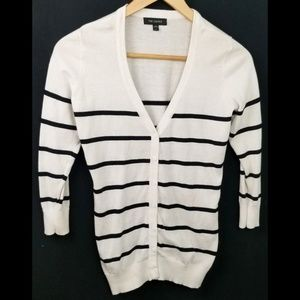 3/$25 The Limited medium cardigan sweater white